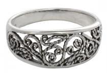 Mittelalter-Ring ~ MIRA ~ Spiralmuster - Silber - Windalf.de