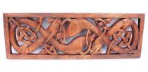 Keltische Hunde ~ NORCANA ~ b: 45 cm - Wanddeko - Handarbeit aus Holz - Windalf.de