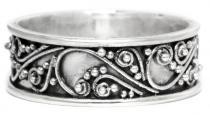 Elfen Glücks-Ring ~ TARA ~ 6 mm - Elfenzauber Zarte Ornamente - Handarbeit aus Silber - Windalf.de