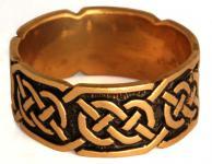 Keltischer Ring ~ LUGH ~ 9 mm - Ring der Freundschaft - Bronze - Windalf.de
