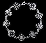 Zarte Keltische Armkette ~ SKADI ~ 19 cm - Celtic Armband - Silber - Windalf.de