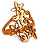 Ring ~ TÂRA ~ Zauberblumen - Bronze - Windalf.de