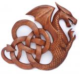 Deko Keltischer Drache ~ DARIAN ~ Wand-Deko - rechts schauend - aus Holz - Windalf.de