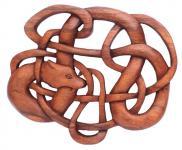 Keltischer Drache ~ LUCAN ~ 23.5 cm - Behüter & Wächter - Handarbeit aus Holz - Windalf.de