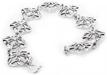 Celtic Freundschafts Armkette ~ MAYA ~ 19 cm - Kelten Knoten Armband - Silber - Windalf.de