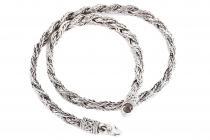 Wikinger Halskette ~ ASGARD ~ 50 cm - Zopfmuster - Handgearbeitet - Antik Silber - Windalf.de