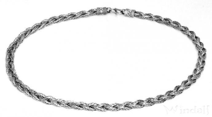 Halskette  Wikinger Halskette ~ ASGARD ~ 50 cm - Antik Silber - Halsketten ...