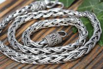 Wikinger Halskette ~ RAGNAR ~ 60 cm - Handgearbeitet - Silber - Windalf.de