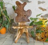 Vintage Holzstuhl ~ ALFARIN ~ 111 cm - Almhütte Wurzelholz Sessel - Handgearbeitetes Unikat - Windalf.de