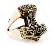 Ring ~ THYR ~ Thorshammer - Vikings - Bronze - Windalf.de