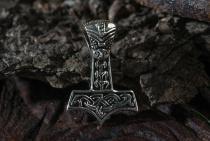 Anhänger ~ AKI ~ Kleiner Wikinger Thorhammer ~ Silber - Windalf.de