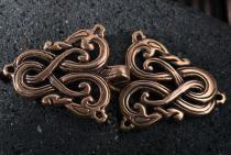 Wikinger Gewandschließe ~ ANSKAR ~ 3.5 cm -  Fibel - Drachen - Vintage Bronze - Windalf.de