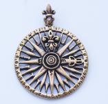 Anhänger ~ WINDROSE ~ Mittelalter Kompass - Bronze - Windalf.de