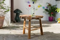 Balkon Tisch - Beistelltisch ~ REDA ~ h: 47 cm - Beistelltisch - Unikat aus Wurzelholz - Windalf.de