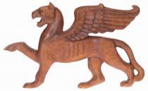 Wanddeko ~ GRIFFIN ~ b: 33 cm - Greif - Handarbeit aus Holz - Windalf.de