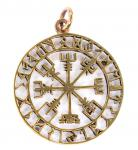Anhänger Runen Kompass ~ VEGVISIR ~ Wikinger Kompass - Asatru - Bronze - Windalf.de