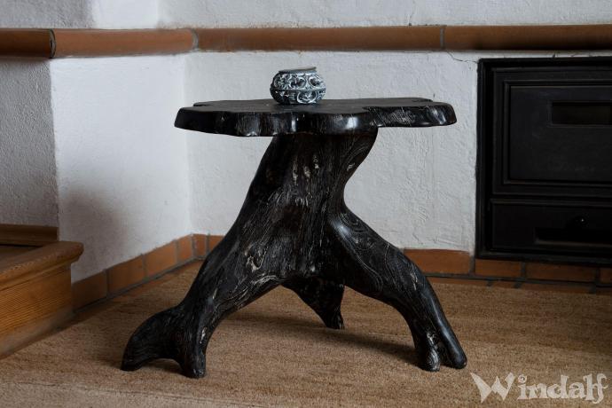 Handmade Schwarzer Kamintisch Brigat H 46 Cm Kleiner