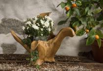 Große Deko Holzschale ~ ROSA ~ h: 44 cm - Hochzeitsschale - Geschenkkorb - Unikat - Windalf.de