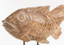 Garten Deko Figur ~ FINN ~ Fisch - Unikat - Windalf.de