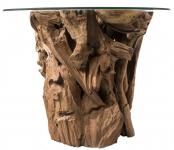 Handmade Natur Bar-Tisch & Terrassen-Tisch ~ ROBIN ~ Höhe: 80 cm - Unikat - Handarbeit aus Wurzelholz - Windalf.de