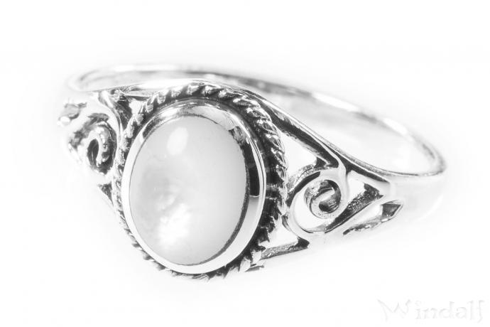 Ringe silber  Ring ~ LUCY ~ Perlmutt - Silber - Ringe mit Steinen - Windalf