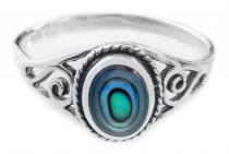 Zarter Ring ~ LUCY ~ h: 0.9. cm - Seeopal mit Lebens Spiralen - Silber - Windalf.de