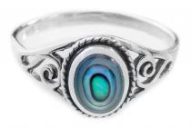 Zarter Ring ~ LUCY ~ 0.9. cm - Seeopal mit Lebens Spiralen - Silber - Windalf.de