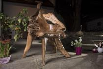 Massiver Holz Sessel ~ CALIOPE ~ h: 107 cm - Landhaus Stuhl - Handarbeit aus Wurzelholz - Windalf.de