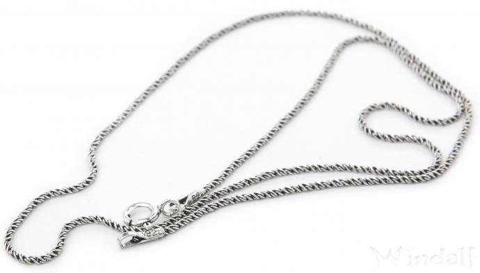 Historische Halskette ~ NORVINA ~ 60 cm - Vintage Silberkette - Antik Silber - Windalf.de