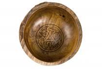 Rustikale Schale ~ ASKINA ~ Ø 19 cm - Keltische Triskele - Handarbeit aus Wurzelholz - Windalf.de