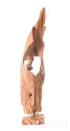 Garten holz skulptur flow gro e deko wurzel unikat for Wurzel deko garten