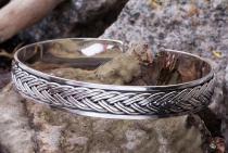 Männer Armreif ~ ROHAN ~ Ø 6.2 cm - Vikings - Handarbeit aus Silber - Windalf.de