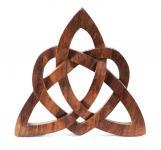 Celtic Wandbild ~ FLAVIA ~ h: 24 cm - Keltisches Liebessymbol - Glückssymbol - Handarbeit aus Holz - Windalf.de