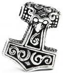 Vikings Thorshammer Bartschmuck ~ THORTAL ~ 2.3 cm - Wikinger Haarschmuck - Vintage Silber - Windalf.de
