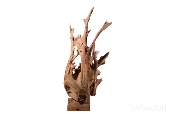 Vintage Holz Skulptur ~ FYRE ~ 155 cm - Garten Dekoration - Garderobe - Handarbeit aus Wurzelholz - Windalf.de