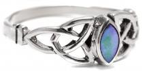 Keltischer Ring ~ LUCANIA ~ 6 mm - Pauamuschel - Silber - Windalf.de