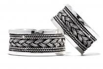 Breiter Wikinger-Ring ~ ARAGON ~ mit Flecht-Muster - Silber - Windalf.de