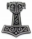 Massiver Asatru Anhänger ~ STEINTHOR ~ 3.4 cm - Vikings Thors Hammer - Vintage Silber - Windalf.de