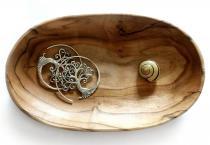 Kleine Seifen Schmuck Schale ~ OMNY ~ 10 cm - Vintage Elfenschale für Münzen & Schlüssel - Handarbeit aus Holz - Windalf.de