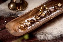 Hobbit Teak Schale ~ GALINA ~ l: 35 cm - Baguett Schale - Handarbeit aus Holz - Windalf.de