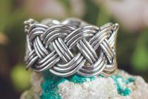 Breiter Wikinger-Ring ~ NORCIA ~ 1.3 cm - Größenverstellbar - handgeschmiedet - Silber - Windalf.de