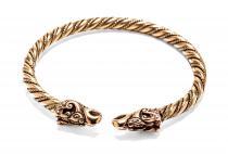 Großer Männer Armreif ~ DRACON ~  Ø 6.8 cm -  Wikinger Drachen - Handgearbeitet aus hochwertige Bronze - Windalf.de
