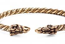 Großer Männer Armreif ~ DRACON ~ Ø 6.8 cm - Wikinger Drachen - Ethno Design - Handgearbeitet aus Bronze - Windalf.de