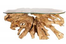Schlanker Konsolentisch ~ DAGNA ~ L: 165 cm -  Rustikaler Bar-Tisch - Fernseh- & Deko-Tisch - Unikat aus Wurzelholz - Windalf.de