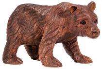 Vintage Bären Figur ~ BALU ~ 30 cm - Holz Power Deko - Handarbeit aus Holz - Windalf.de