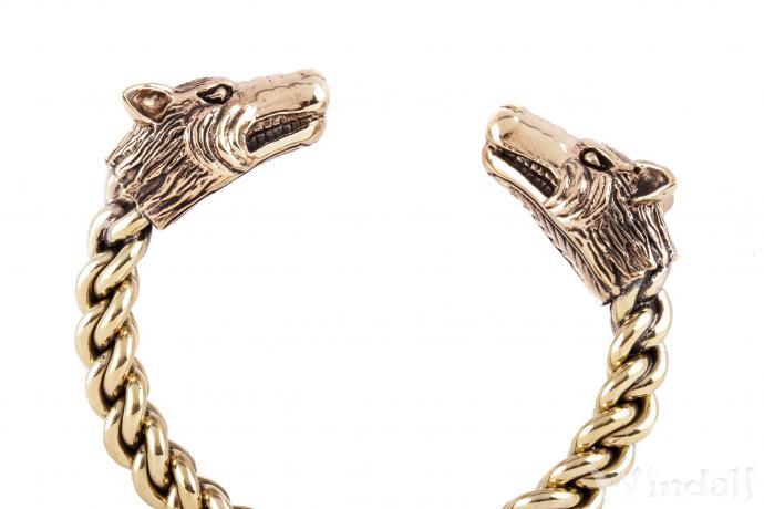 Vikings Damen Armreif ~ STARK ~ Ø 6.5 cm - Wikinger Asatru Schmuck - Handarbeit aus Bronze - Windalf.de