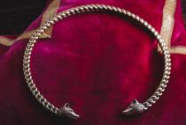 Damen Torques ~ ZARIN ~ Ø 12.5 cm - Halsreif Viking Style - Wotans Wölfe - Handarbeit aus Bronze - Windalf.de