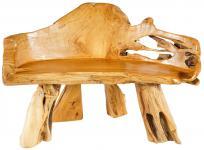 Vintage Auenland Sitzbank ~ PALADIN TUK ~ 118 cm - Natur Küchen Holzbank - Handarbeit aus Wurzelholz - Windalf.de