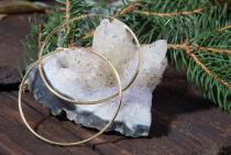 Creolen ~ ARYA ~ vergoldet - XL - 7,0 cm - Silber - Windalf.de