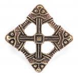 Brosche / Fibel ~ VIKING CROSS ~ Schutzsymbol - Bronze - Windalf.de